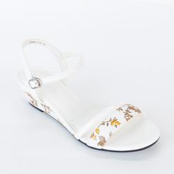 Giày Sandals Xuồng Quai Ngang 121 màu trắng