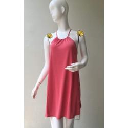 Đầm thun cổ yếm F21