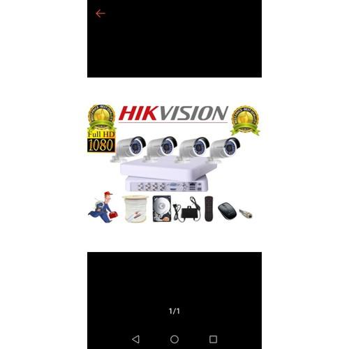 TRỌN BỘ CAMERA HIKVISION  FULL HD 2.0MP 4 camera - chính hãng