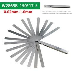 Thước căn lá 0.02~1.00mm 17 lá -Chiều dài lá 150mm