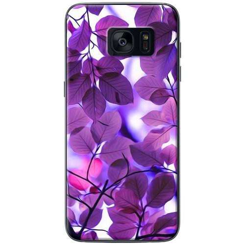 Ốp lưng nhựa dẻo Samsung S7 Edge Lá màu tím
