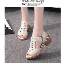 Giày sandal nữ cá tính, Phong Cách Hàn Quốc