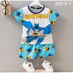 Bộ quần áo siêu nhân người dơi tay ngắn - xanh