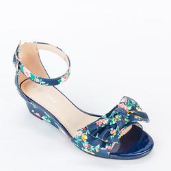 Giày Sandal Xuồng Quai Ngang Gắn Nơ 120 màu xanh