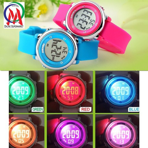 Đồng hồ Nữ Skmei Điện tử Teen Viền Tim OM472 - Hồng