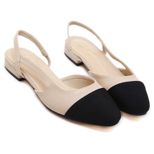 Giày bệt nữ Cổ điển - 2 tông màu