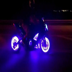 Đèn led chạy chữ gắn van xe máy, xe đạp