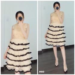 Đầm xòe tầng công chúa cao cấp 5 màu trắng, hồng, đỏ, kem, xám