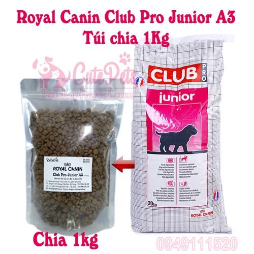? Thức ăn cho chó RoyalCanin Club Pro Junior A3 chia 1kg