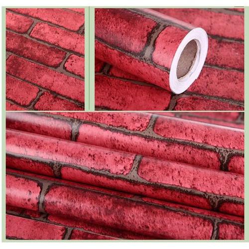 5m Decal giấy dán tường gạch đỏ - khổ 60cm
