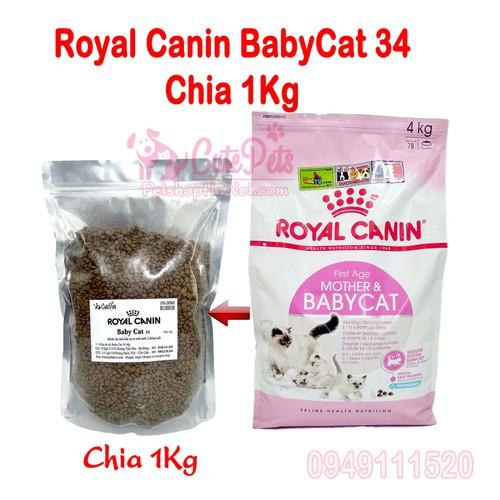 Thức ăn mèo con Canin BabyCat 34- Chia 1kg - CutePet