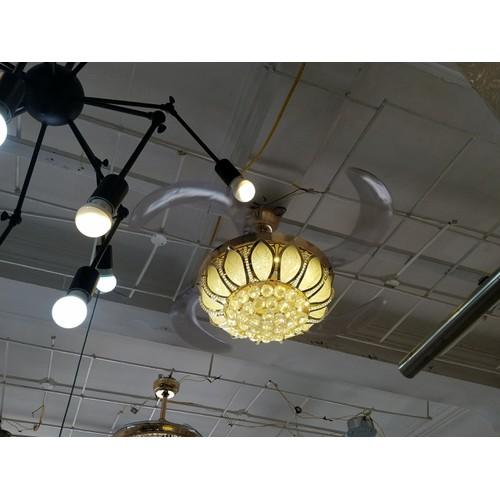 Quạt trần đèn chùm Pha lê cao cấp 9305D - Quạt trần trang trí