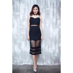 Sale: Đầm body 2 dây phối ren - Size M, L