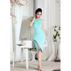 Sale: Đầm body sát nách phối lưới - Size S, M