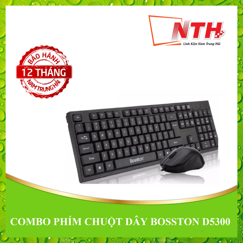 [NTH] COMBO PHÍM CHUỘT DÂY BOSSTON D5300
