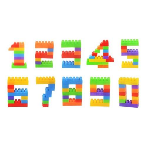 Đồ chơi giáo dục khối lắp ghép bằng nhựa DIY -AL 260 Chi tiết + Túi dù
