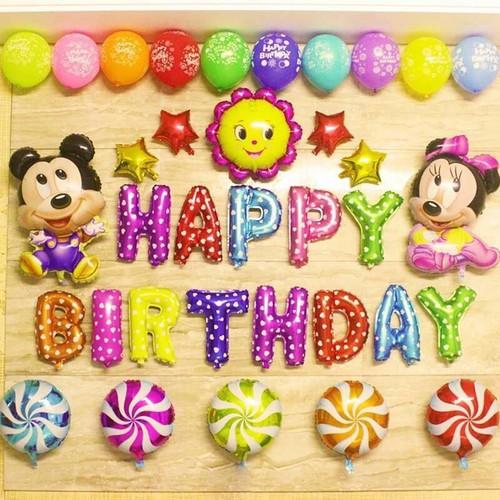 Sét bóng trang trí sinh nhật chủ đề Mickey-Minner