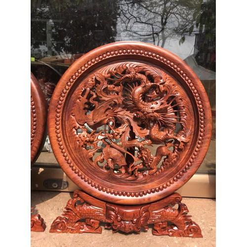 đĩa  gỗ trang trí  trạm tứ linh gỗ hương đá đường kính 40 cm - 5975012 , 10068627 , 15_10068627 , 2600000 , dia-go-trang-tri-tram-tu-linh-go-huong-da-duong-kinh-40-cm-15_10068627 , sendo.vn , đĩa  gỗ trang trí  trạm tứ linh gỗ hương đá đường kính 40 cm