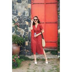 Váy chấm bi đỏ siêu đẹp siêu chất