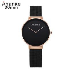 Đồng hồ nữ đồng hồ nữ dây lưới thép thời trang Ananka - Mã số: DHN1801