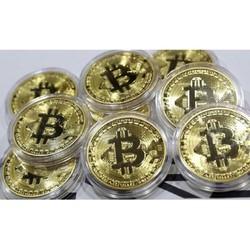 Bộ 10 Đồng Bitcoin hợp kim 24k Quà tặng tết 2018 - Huy Tưởng