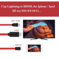 Cáp kết nối Iphone ra HDMI TV dẹt chất lượn cao siêu bền