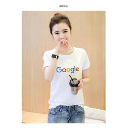 Áo thun nữ in hình chữ google vải dày mịn