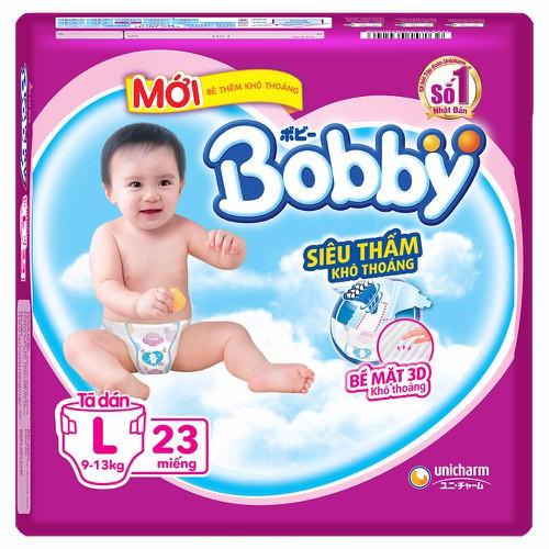 Tã dán Bobby size L  23 miếng