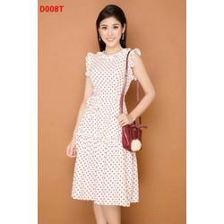 Đầm Chấm Bi Thun Cotton