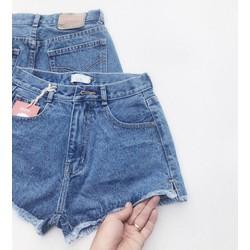 Quần short jean nữ lưng cao