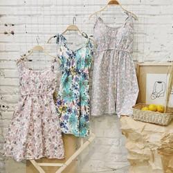 Váy hoa 2 dây cúp ngực