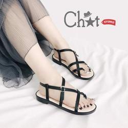 Giày Sandal Nữ Xỏ Ngón Dây Đan Chéo