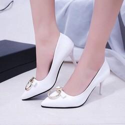 Giày cao gót khóa tròn sang trọng