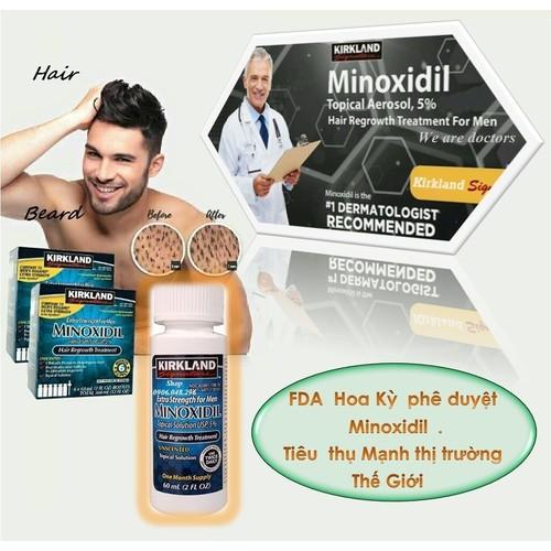 Thuốc mọc Râu mọc Tóc Minoxidil Kirkland USA -1 Chai