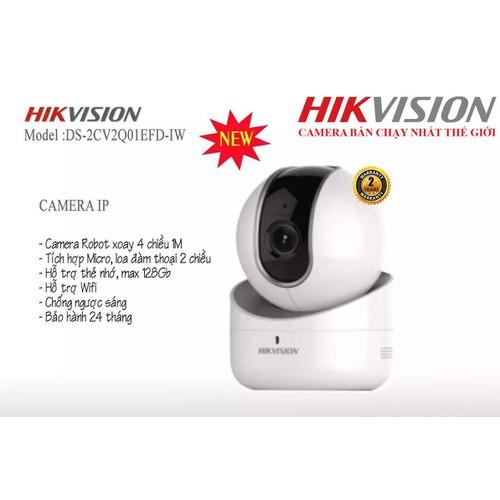 Camera IP Robot HD WIFI DS-2CV2Q01EFD-IW xoay 4 chiều