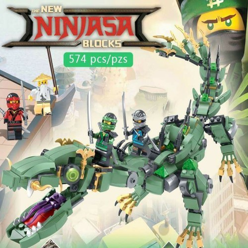 Bộ NINJAGO LEPIN 06051 - Lắp Ráp Ninja Rồng Xanh