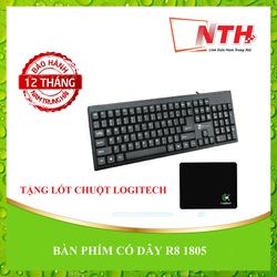 [TẶNG LÓTCHUỘT] Bàn phím máy tính R8 1805