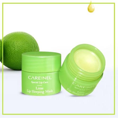 Mặt nạ ngủ môi Care:nel tẩy tế bào chết Lip Sleeping Mask Lime