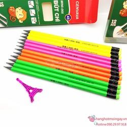 hộp 12 Cây bút chì gỗ 2B