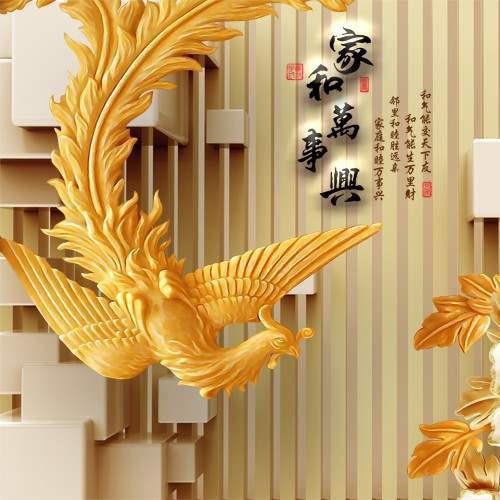 Tranh dán tường 3D VTC  Lunawall-0094