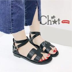 Giày Sandal Nữ Quai Ngang Độc Đáo