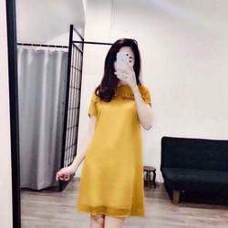 Đầm suông 2 lớp xinh xắn