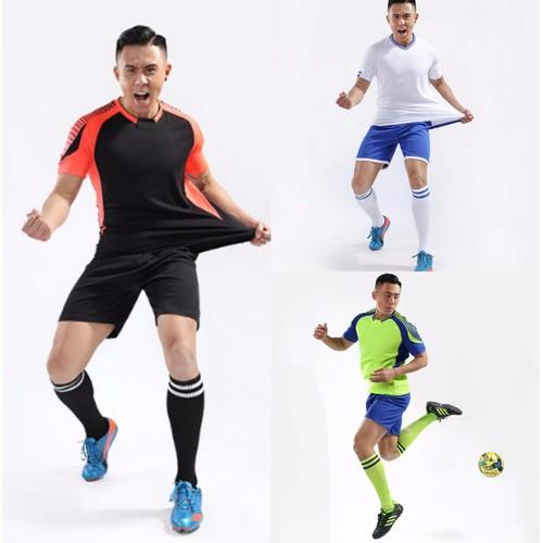 Bộ quần áo thể thao nam màu đen- cam