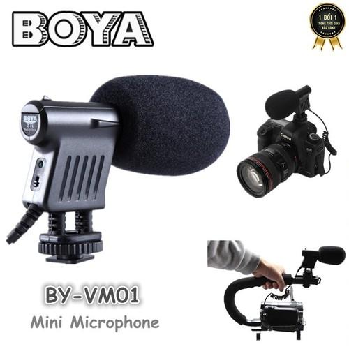 Micro cho máy ảnh, máy quay phim BOYA BY-VM01 cao cấp
