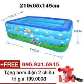 hồ phao bơi - bể phao bơi - bể bơi - hồ bơi cho bé - bể phao loại lớn 2m1