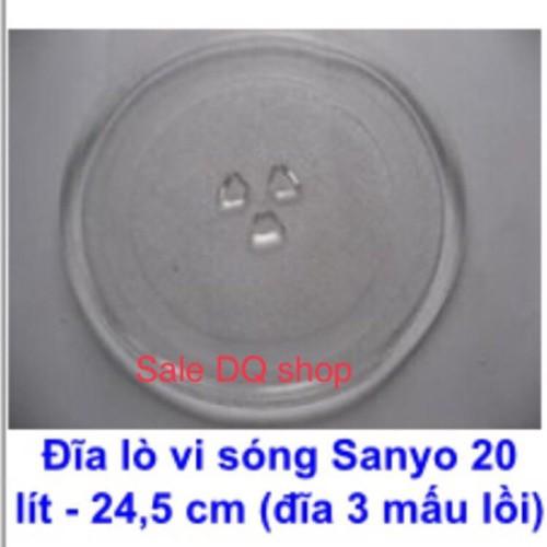 Đĩa thuỷ tinh lò vi sóng cao cấp chính hãng Sanyo