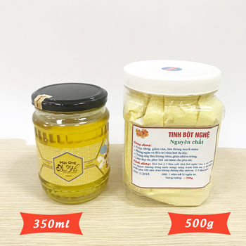 [TẶNG PHẤN HOA] 350ml Mật bạc hà +  500g Tinh bột nghệ