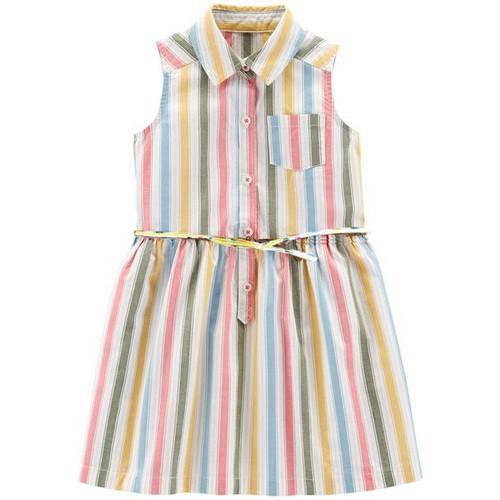 Đầm sơmi sọc Carter cho bé gái 2-5T D790