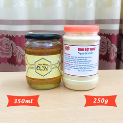 350ml Mật ong bạc hà + 250g Tinh bột nghệ