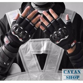 Găng tay,bao tay hở ngón đi phượt, tập Gym có gù bảo hộ - TT08-GTFHN thumbnail